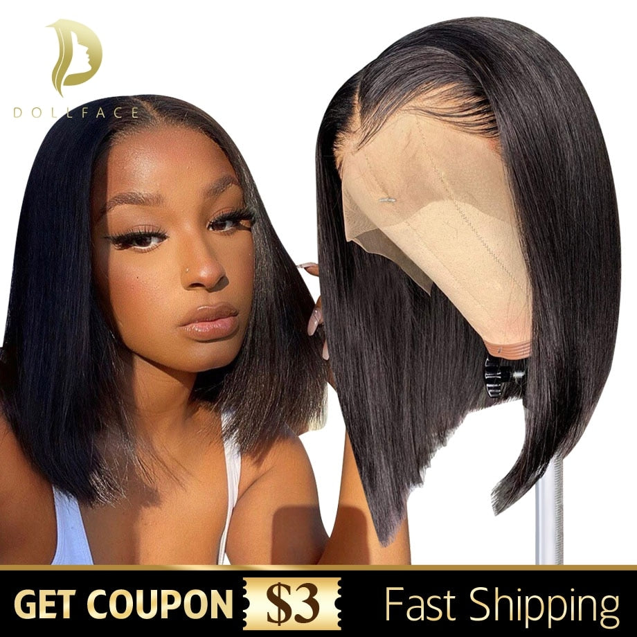 Short Bob Wigs Straight Lace Front Human Hair Wigs For Black Women Full Natural Brazilian Wig Remy Preplucked Hd Frontal Hair
