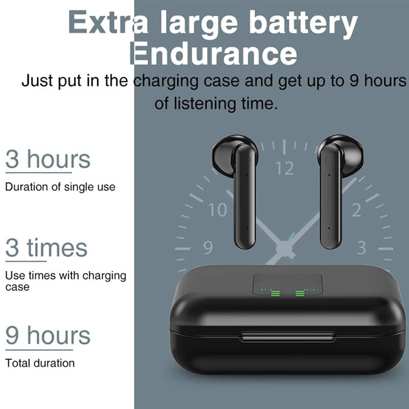 X15 TWS Bluetooth Headphone Wireless Earphone LED Display Bluetooth 5.0 Sport Headset Earbuds Airbuds with Charging Case