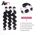 NY Hair Brazilian Body Wave 4 Bundles Hair 100% Human Hair Weave Natural Black Non-Remy Body Wave Bundles Deals for Black Women