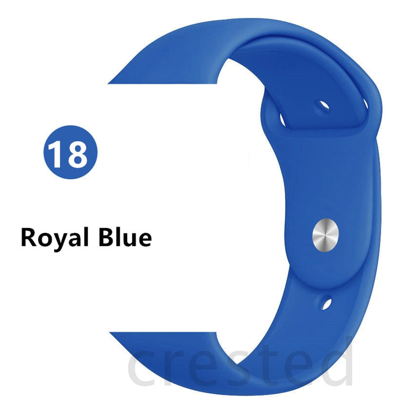 Silicone Strap For Apple Watch band 44 mm/40mm iWatch Band 38mm 42mm 44mm Sport watchband bracelet apple watch series 5 4 3 2 1