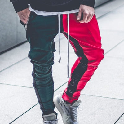 April MOMO 2020 Men Jogger Patchwork Gyms Pants Men Fitness Bodybuilding Gyms Pants Runners Clothing Sweatpants Trousers Hombre