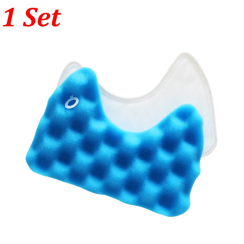 1PC Blue Sponge Hepa Filter & 1PC Cotton Filter for Samsung DJ97-00492A SC6520/30/40/50/60/70/80/90 SC68 Vacuum Cleaner Parts