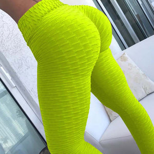 2020 New Bumps Style Leggings Put Hip Fold Elastic High Waist Legging Breathable Slim Pants indoor Sports
