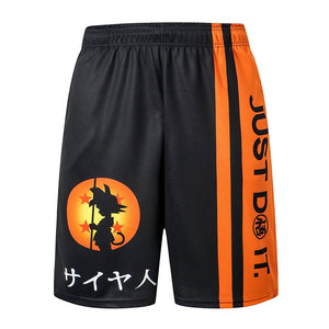 2020 New dragon ball z GOKU Loose Sport Shorts Men Cool Summer Basketball Short Pants Hot Sale Sweatpants No belt