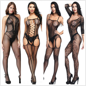 Sexy lingerie Teddies Bodysuits hot Erotic lingerie open crotch elasticity mesh body stockings hot porn sexy underwear costumes