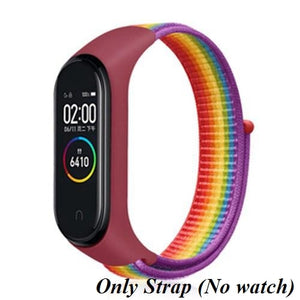 Nylon Strap for Xiaomi Mi band 4 3 5 replaceable Bracelet Mi band band4 corea Wristband Breathable Bracelet for Xiomi Miband 3 4