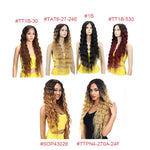 Lace Front Wigs Deep Wave Middle Part Ombre Blonde Brown 6 Colors Available 30 Inches Lace Front Synthetic Wigs For Women Bella