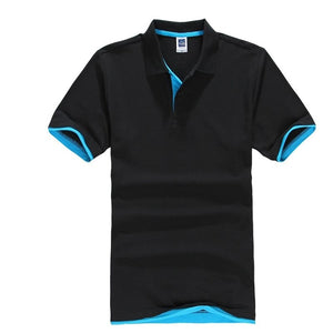 Summer Classic Polo Shirt Men Cotton Solid Short Sleeve Tee Shirt Breathable Camisa Masculina Polo Hombre Jerseys Golftennis 3XL