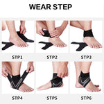 GOBYGO  Sport Ankle Support Elastic High Protect Sports Ankle Equipment Safety Running Basketball Ankle Brace Support