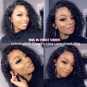 Pixie Cut Bob Lace Front Wigs 150 180 250% Lace Front Human Hair Wigs Curly Human Hair Wig Remy Lace Closure Wig Pre plucked