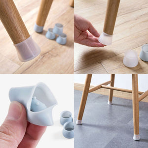 4Pcs/Set Table Chair Leg Silicone Cap Pad Furniture Table Feet Cover Floor Protector Non-slip Table Chair Foot Protection
