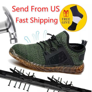 Dropshipping Indestructible Work Shoes Men And Women Steel Toe Air Safety Boots Puncture-Proof Work Sneakers Breathable Shoes