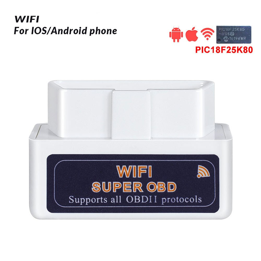 ELM327 V1.5 Bluetooth/Wifi OBD2 scanner v1.5 Elm 327 Bluetooth PIC18F25K80 Auto Diagnostic Tool OBDII for Android/IOS/Windows