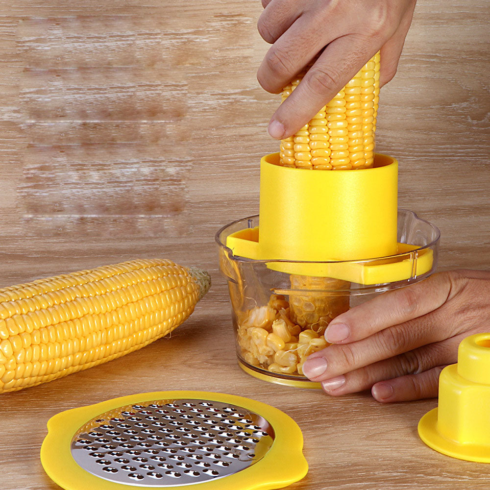 inventive stain resistant steel corn planer multifunction peeling corn thresher practical kitchenware kitchen gadgets-BUYALL20