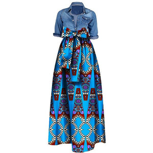 22Color African Fashion Print Skirts for Women Dashiki Lace 100%Cotton Nigerian Ankara Dresses Design Long Skirt M-6XL-BUYALL20