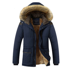 Winter Jacket Men Brand Clothing Fashion Casual Slim Thick Warm Mens Coats Parkas With Hooded Long Overcoats Male Clothes 5XL-BUYALL20