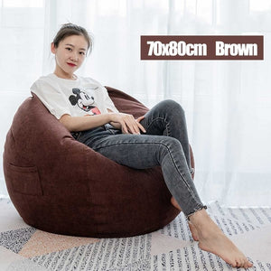 Nesloth Full Lazy BeanBag Sofas Chairs with liner & EPS Filler Lounger Seat Bean Bag Pouf Puff Couch Tatami Living Room 70x80cm-BUYALL20