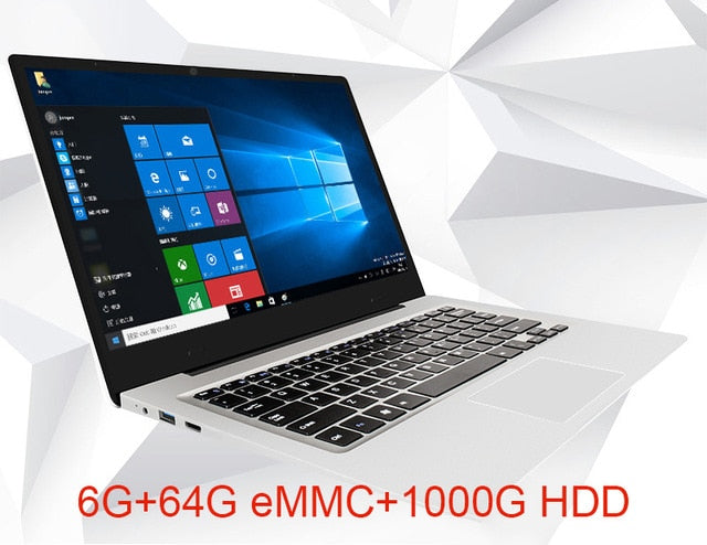 YEPO Laptop 15.6 inch 6GB RAM 64GB eMMC 1TB HDD 256GB SSD Quad Core Ultra-thin Notebook Computer With LED FHD Display Ultrabook-BUYALL20