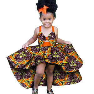 African Summer 2020 News Traditional Dashiki Print Dress for Girl Kids Costume Ethnic Bow-knot Infant African Dresses for Women-BUYALL20