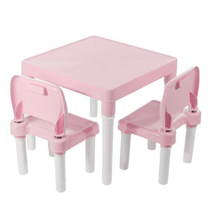 Children Folding Table Chairs Set Kids Gaming Learning Tables Chair Plastic Table Cute Toy Game Table Desk for Girs Boys-BUYALL20
