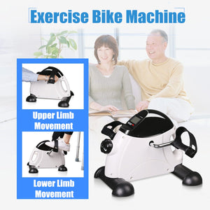 LED Display Home Exerciser Fitness Pedal Bike Exercise Indoor Trainer Exerciser Cycling Fitness Mini Pedal Arms Legs Physical-BUYALL20