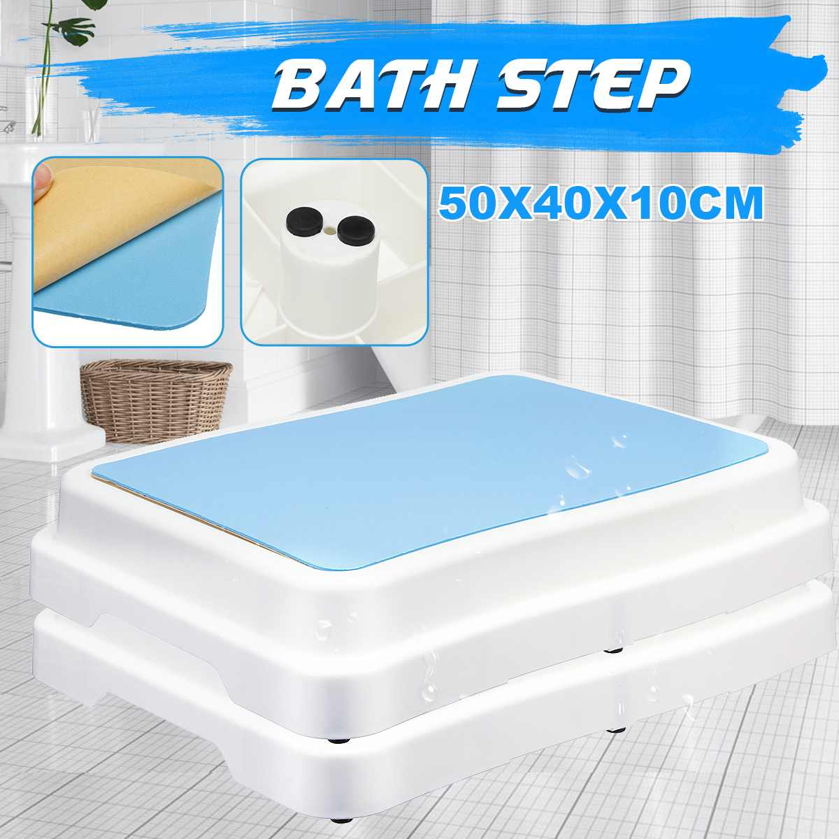 Stackable Bench Stool EVA Bathroom Feeding Hand Washing Bath Stepping Footstool Old Man Baby Non-slip Foot Stool Large Platform-BUYALL20
