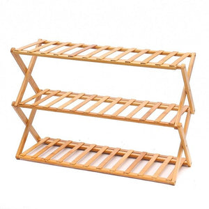 Folding 3/6 Layers Bamboo Shoes Rack Organizer Stand Holder Home Office Storage Shelf Furniture Portable Shoes Rack Cabinet-BUYALL20