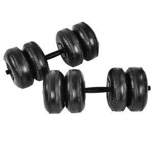 16-25 KG Fitness Water-filled Dumbbell Fitness Equipment Training Arm Muscle Fitness Adjustable Convenient Water Injection Dumbb-BUYALL20