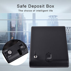Gun Safe Portable Fingerprint Box Safe Fingerprint Sensor Box Security Keybox Strongbox OS100A for Valuables Jewelry Cash