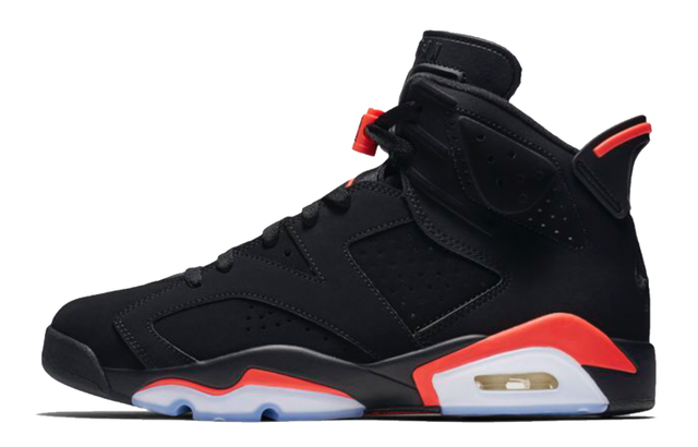 Nike Air Jordan 6 Black Infrared OG 2019 Men's Basketball Shoes Original High Top Jordan Sneakers Basketball Shoes Women