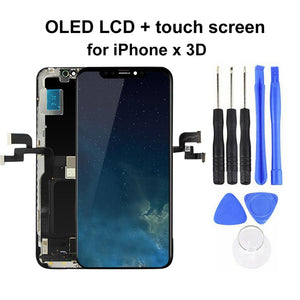 Replacement OLED Display Touch Screen Digitizer Assembly with Tool For iPhone X LCD Display Screen Touch Screen Digitizer + tool