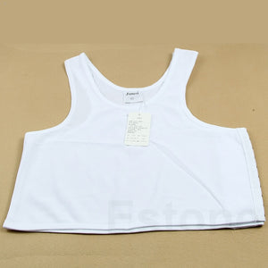 Lesbian Tomboy Casual Breathable Buckle Short Chest Breast Binder Trans 5 Sizes-BUYALL20