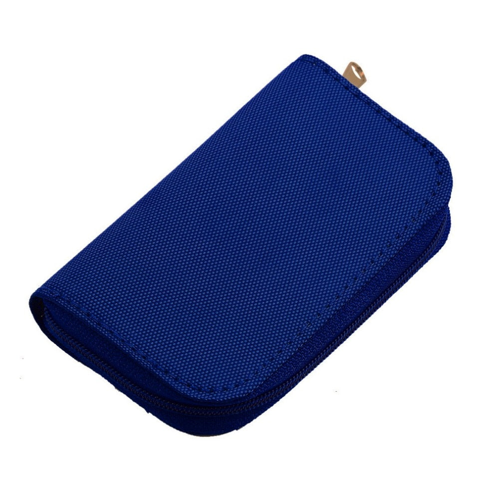 MMC CF For Memory Card Storage Carrying Pouch bag Box Case Holder Protector Wallet Blue-BUYALL20