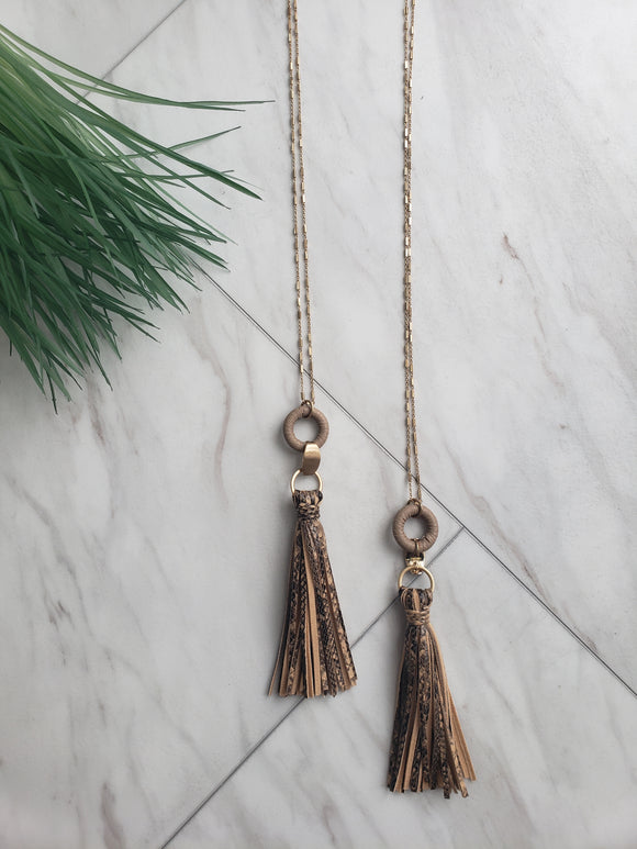In the Wild Fringe Necklace