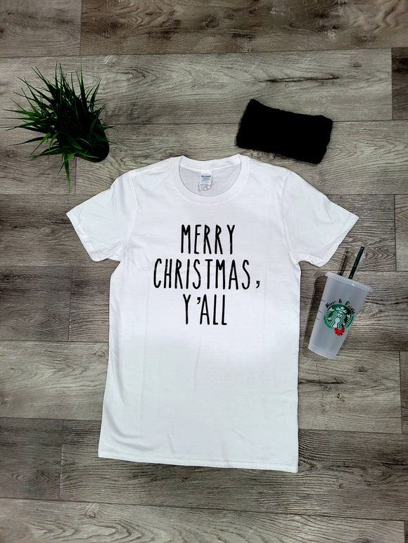 Merry Christmas Y'all Graphic Tee