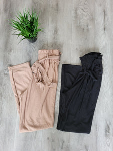 Paper Bag Tapered Pants (Multiple Color Options)