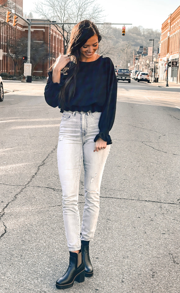 Stella Crop Knit Top