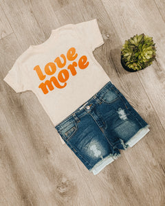 """Love More"" Toddler Retro Graphic Tee"