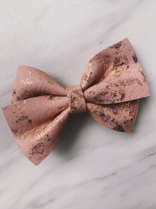 Rose Gold Hair Bow
