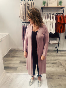 Dusty Mauve Cardigan