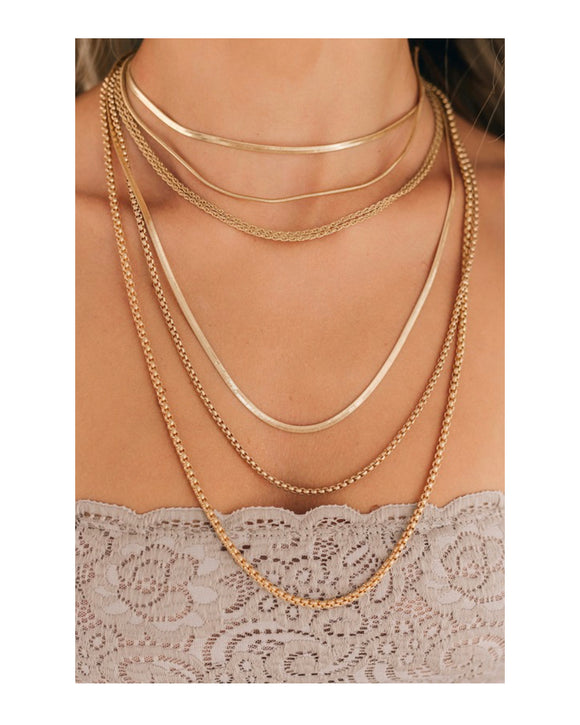 Gold 6 Layer Necklace