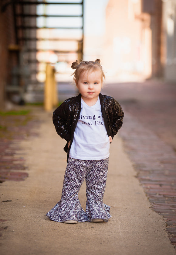 Leopard Bell Bottoms-One Left (5T)