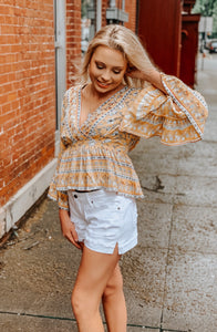 Boho Bell Sleeve Top
