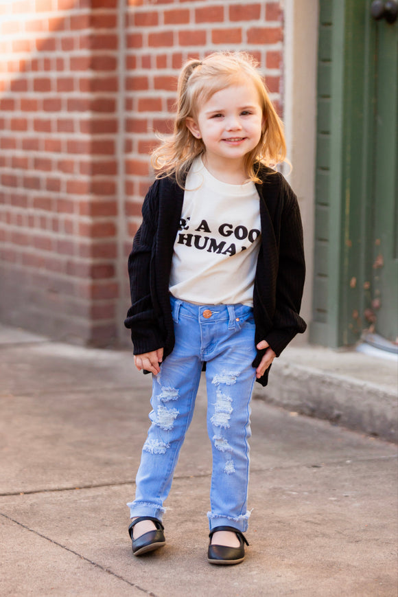 Toddler Light Wash Distressed Denim (2T-4T)