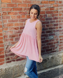 Dusty Pink High Low Tank-One MD & Two XL Left