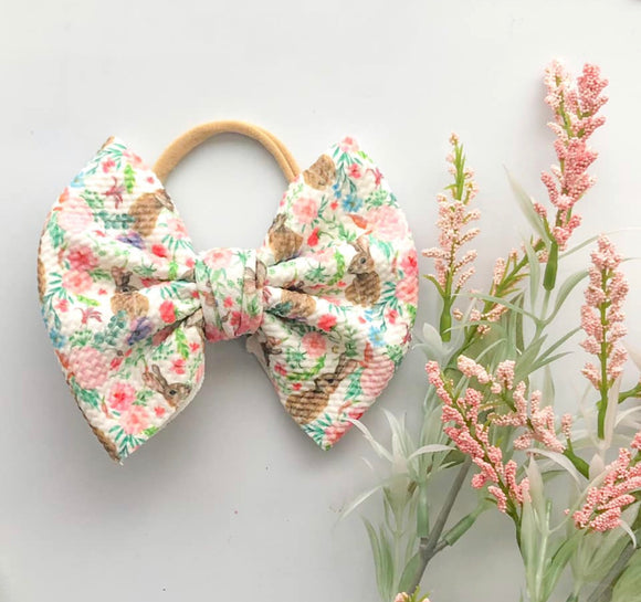 Bunny Fabric Bow