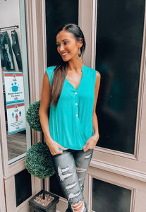 Teal Loose Fit Tank