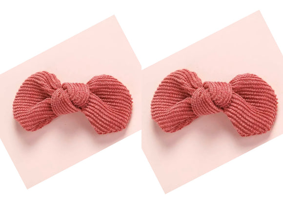 Corduroy Pigtail Set (multiple color options)