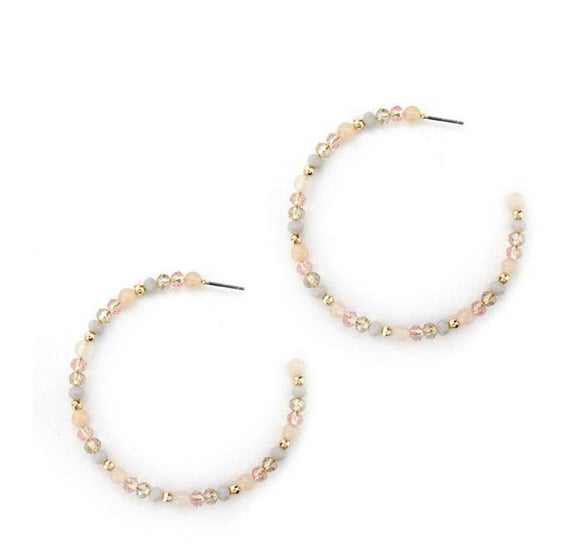 Beaded Hoops (multiple color options)