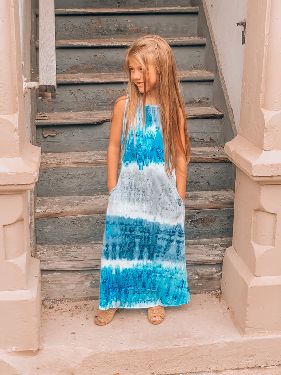 Phoebe Tie Dye Maxi Dress (Tween Sizes)